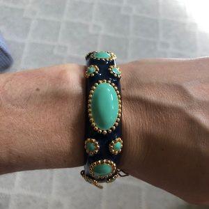 JCrew Navy & Turquoise Bracelet